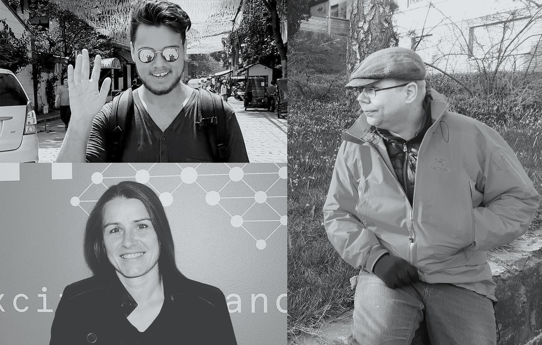 Tre bilder av ItumX-ansatte i en collage.
