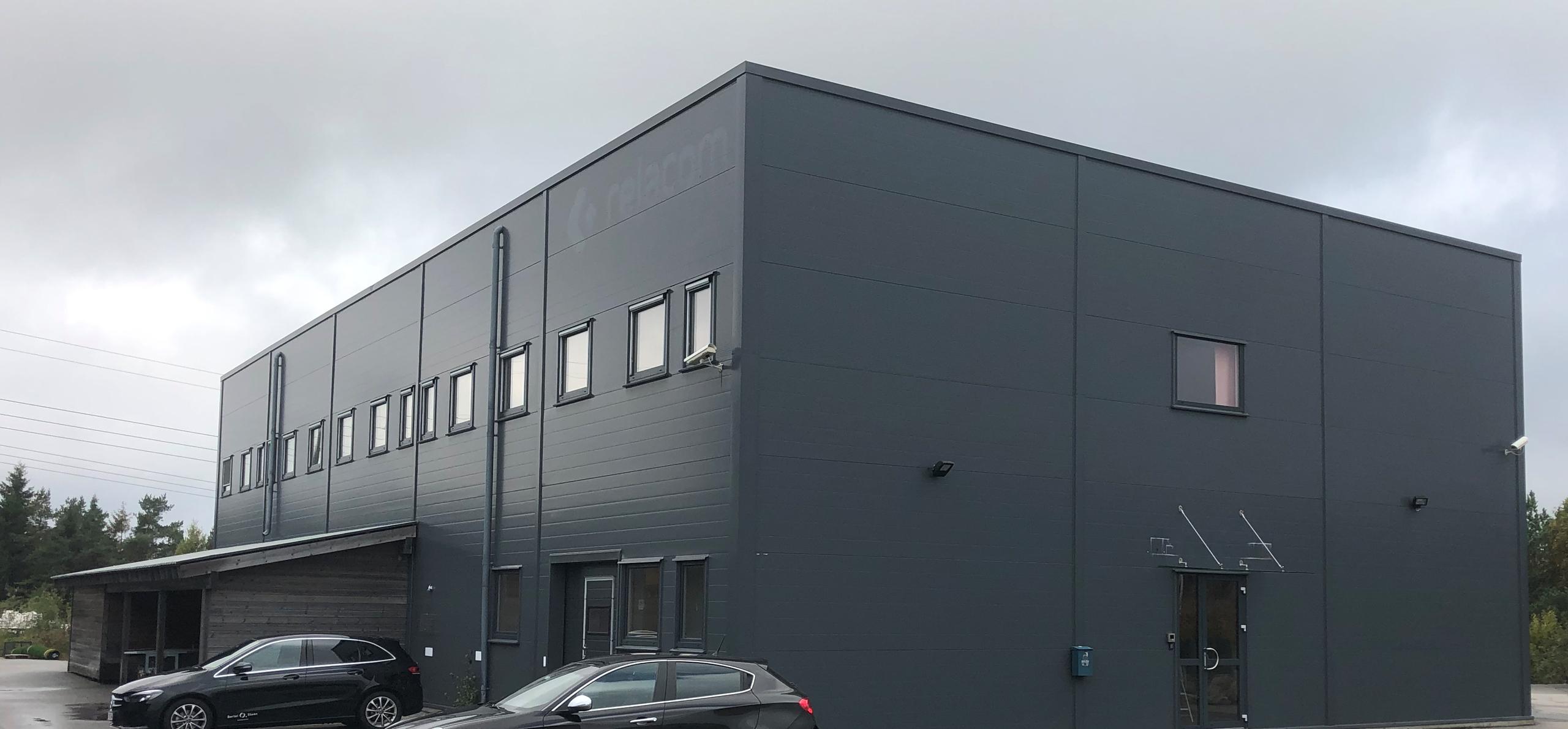 Bilde av kontorbygget utenfor i Skibåasen 35F i Kristiansand. Foto